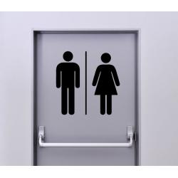 Autocollant Signalisation Panneau Pictogramme Toilette - 1