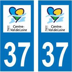 Sticker Plaque 37 Indre et Loire