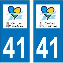 Sticker Plaque 41 Loir et Cher