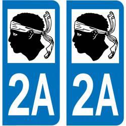 Autocollant Plaque 2A Corse du Sud