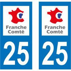 Sticker Plaque 25 Doubs