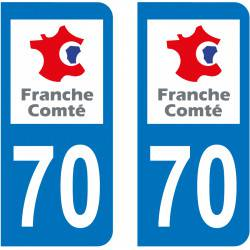 Autocollant Plaque 70 Haute Saône