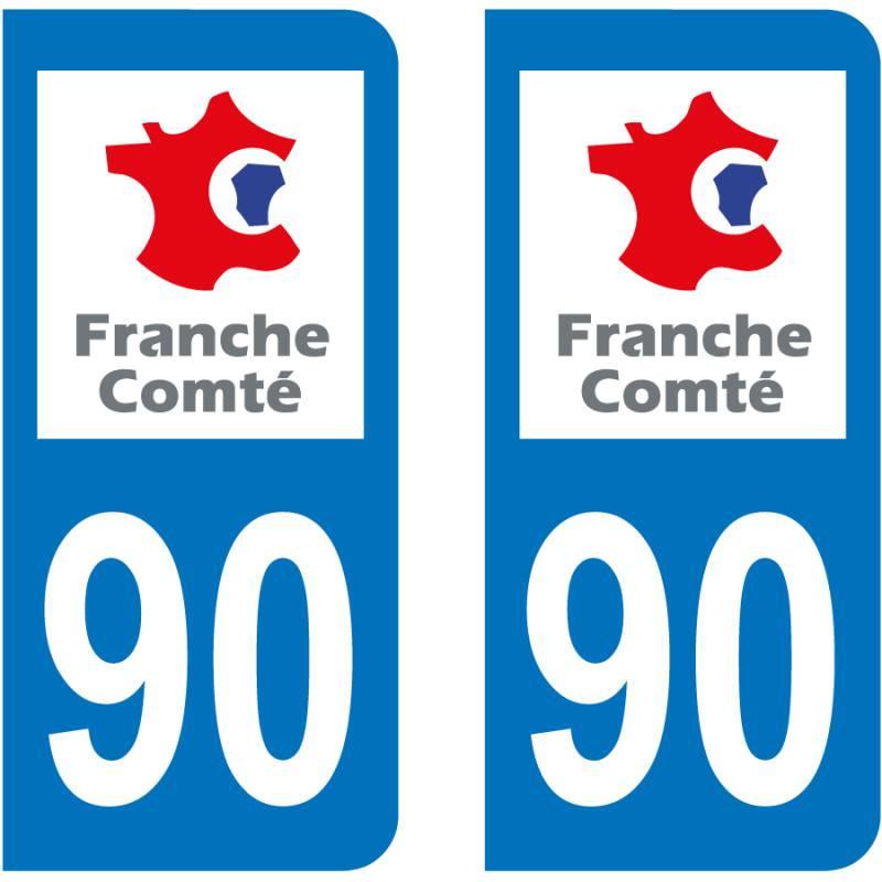 Autocollant Plaque 90 Territoire de Belfort