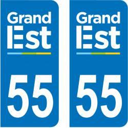 Autocollant Plaque 55 Meuse