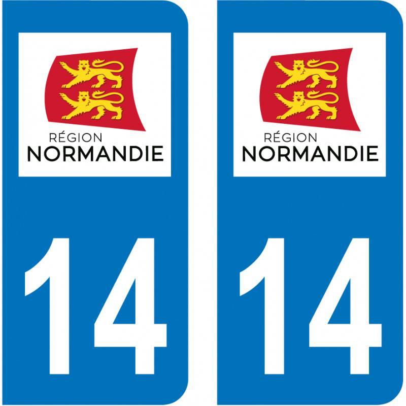 Autocollant Plaque 14 Calvados