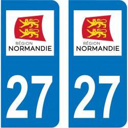 Autocollant Plaque 27 Eure