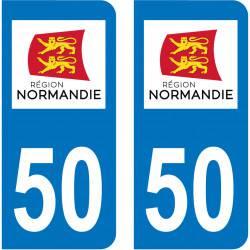 Autocollant Plaque 50 Manche