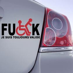 Autocollant Fuck Je suis Toujours Valide - 1