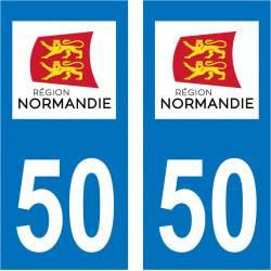 Sticker Plaque 50 Manche