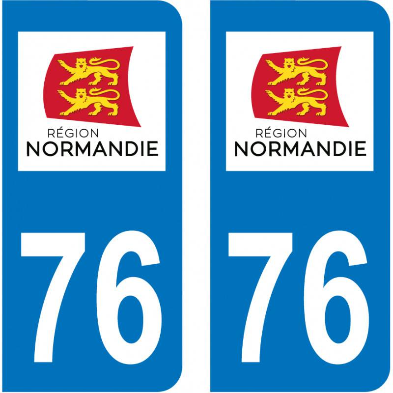 Autocollant Plaque 76 Seine Maritime