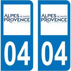 Sticker Plaque 04 Alpes-de-Haute-Provence - 2