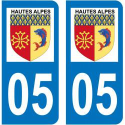 Sticker Plaque 05 Hautes-Alpes