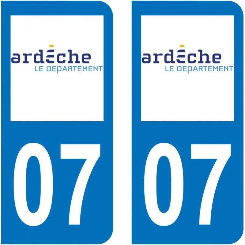 Sticker Plaque 07 Ardeche - 1