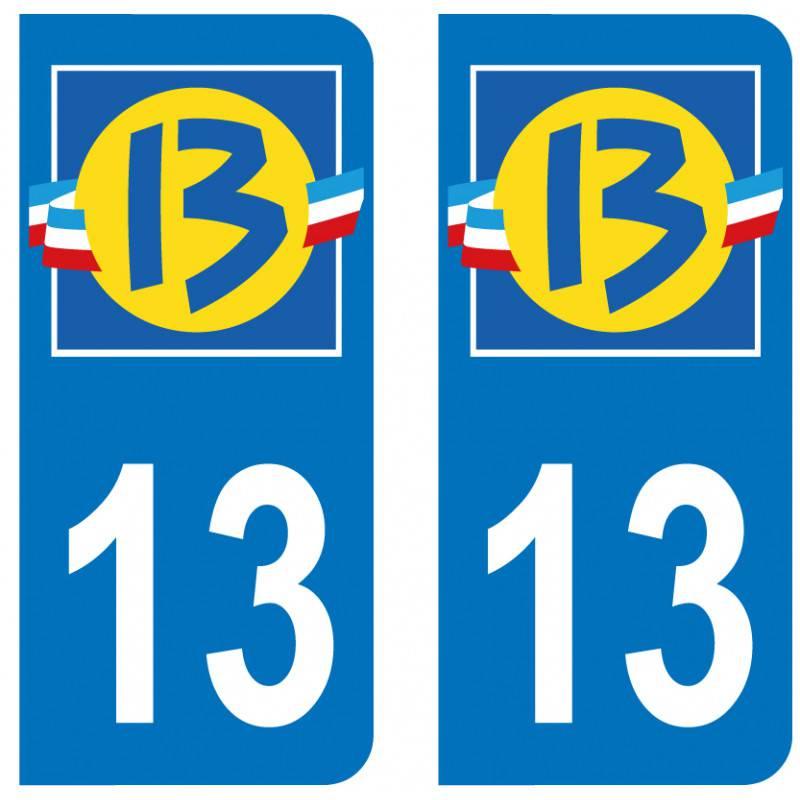 Sticker Plaque 13 Bouches-du-Rhone - 1