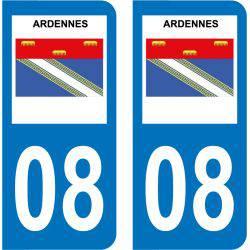 Sticker Plaque 08 Ardennes