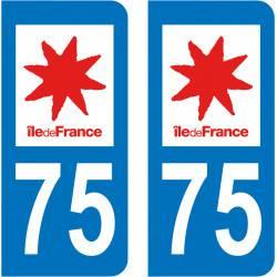 Autocollant Plaque 75 Paris