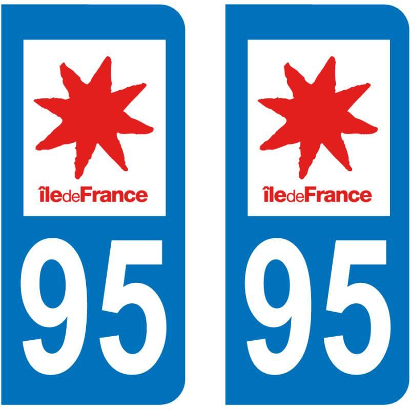 Autocollant Plaque 95 Val d'Oise