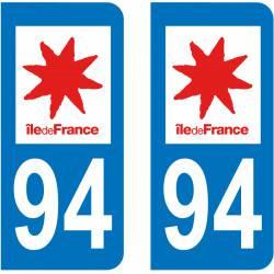 Autocollant Plaque 94 Val de Marne