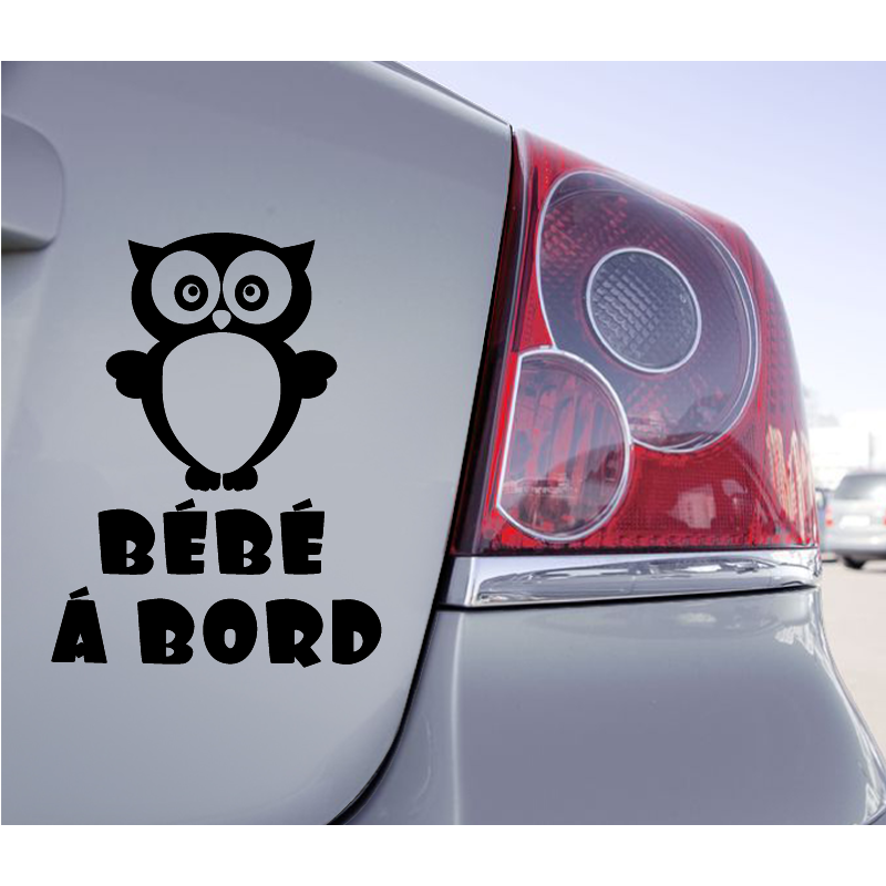 Sticker Bébé à Bord Hibou - 1