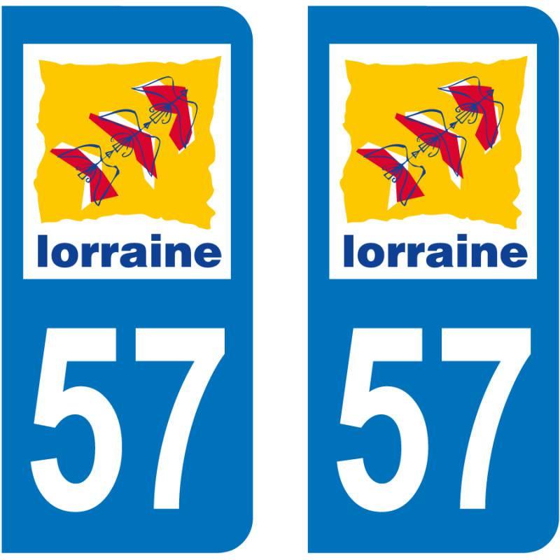 Autocollant Plaque 57 Moselle