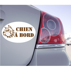 Sticker Chien à Bord Pit Bull - 1