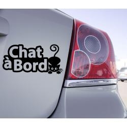 Sticker Chat à Bord