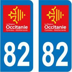 Autocollant Plaque 82 Tarn et Garonne