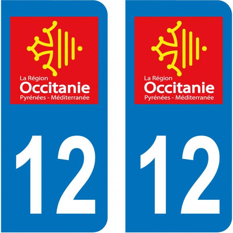 Autocollant Plaque 12 Aveyron