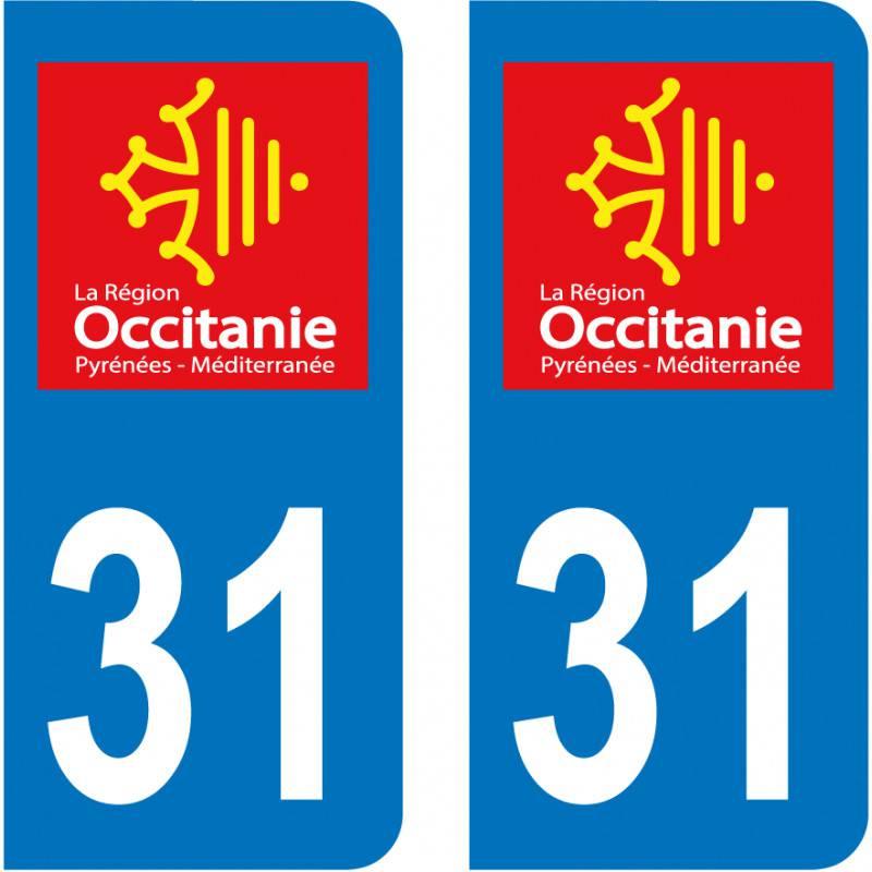 Autocollant Plaque 31 Haute Garonne