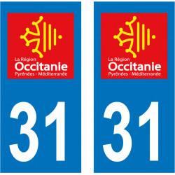 Sticker Plaque 31 Haute Garonne