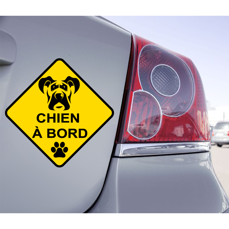 Sticker Chien à Bord Dogue Allemand - 1