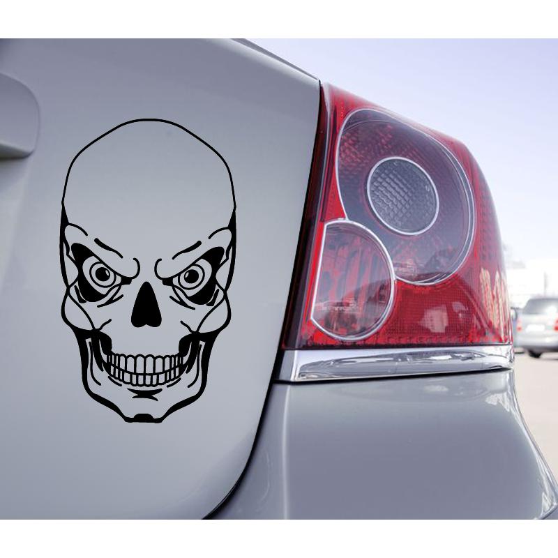 Sticker Voiture Tête De Mort Skull - 1