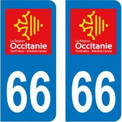 Autocollant Plaque 66 Pyrénées Orientales