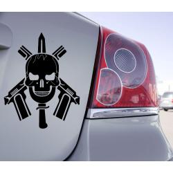Sticker Skull Gun
