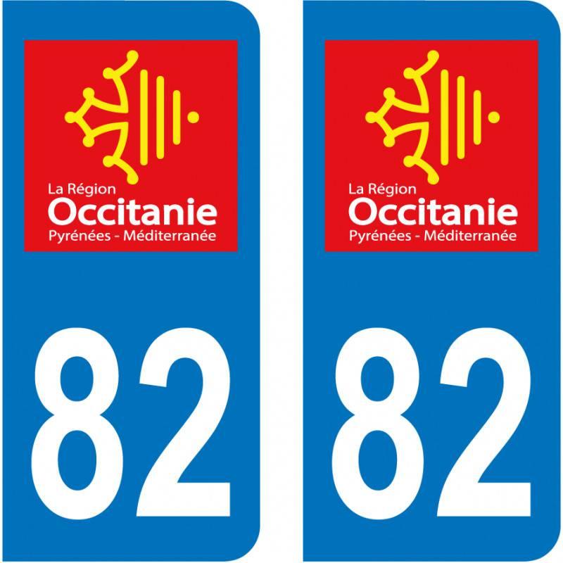 Sticker Plaque 82 Tarn et Garonne