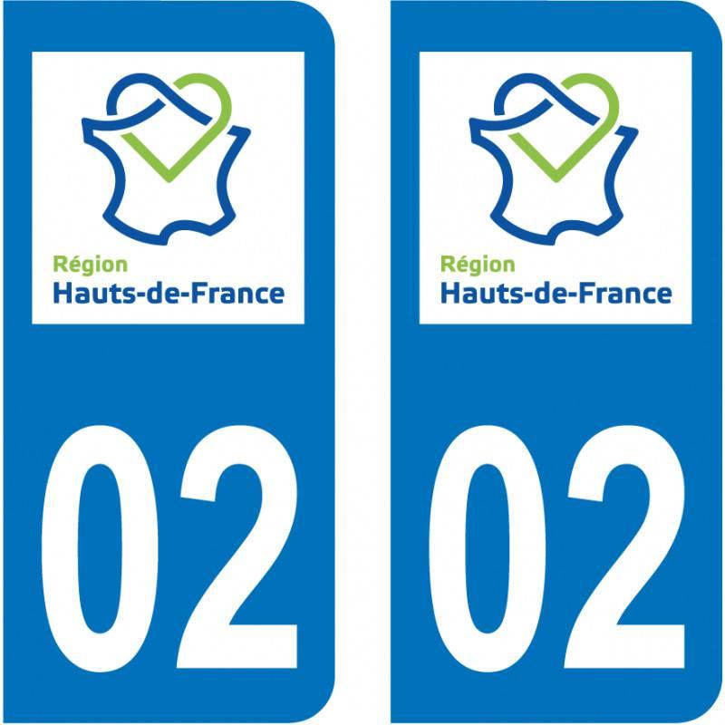 Paire Sticker Hauts-de-France 02 Aisne