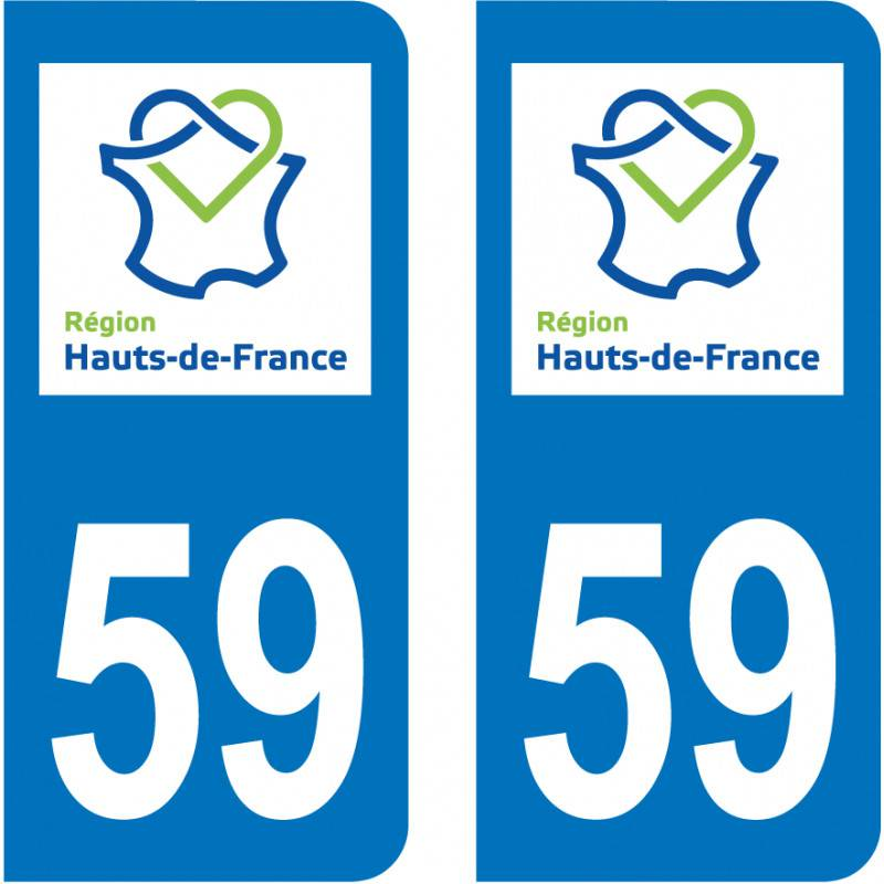 Sticker Plaque 59 Nord