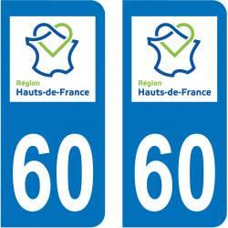 Autocollant Plaque 60 Oise