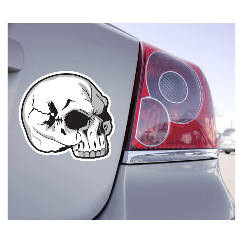 Sticker Crâne Fendu Skull - 1