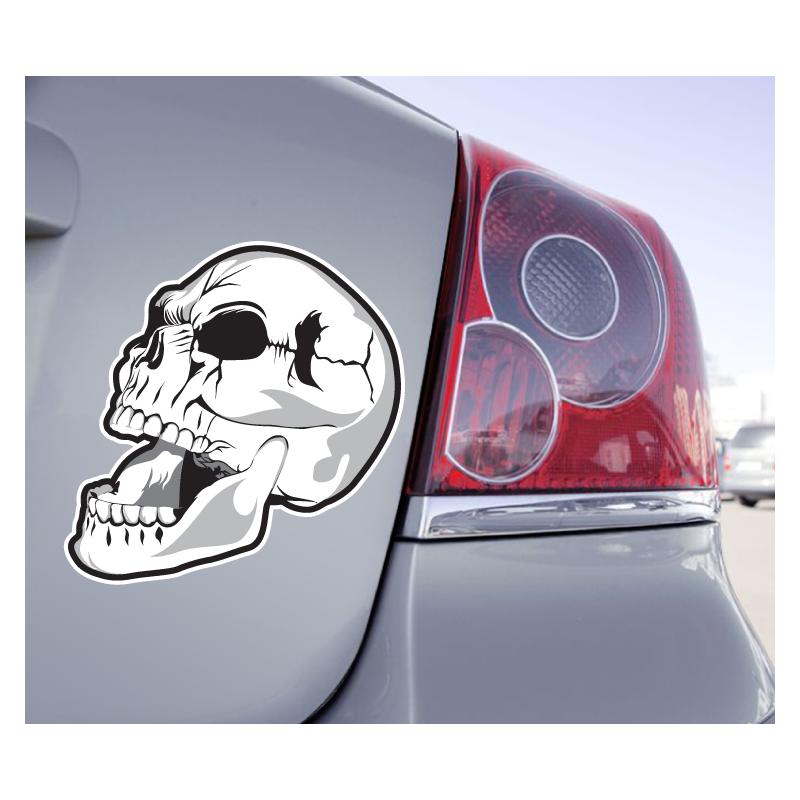 Sticker Crâne Fendu Bouche Ouverte - 1