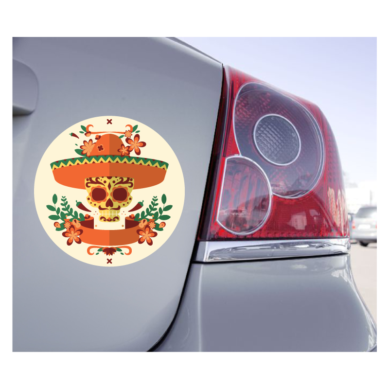 Sticker Skull Sugar Tete De Mort Mexicaine - 1