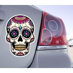 Sticker Crâne Tête De Mort Skull - 1