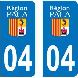 Autocollant Plaque 04 Alpes de Haute Provence