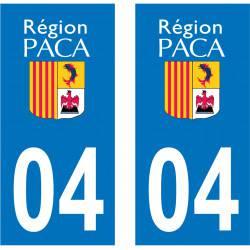 Sticker Plaque 04 Alpes de Haute Provence