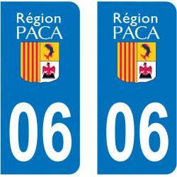 Autocollant Plaque 06 Alpes Maritimes