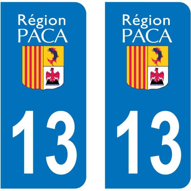 Autocollant Plaque 13 Bouches du Rhône