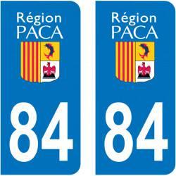Autocollant Plaque 84 Vaucluse