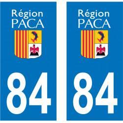 Sticker Plaque 84 Vaucluse