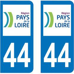 Autocollant Plaque 44 Loire Atlantique