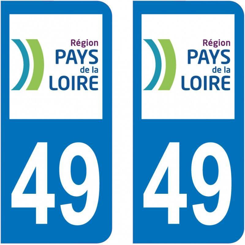 Autocollant Plaque 49 Maine et Loire